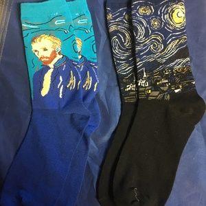 Van Gough  Socks 2 Pair New